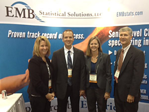 EMB associates at exhibit booth, summer 2012 (photo)